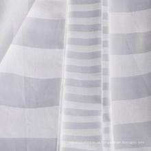 Tela listrada de cetim de algodão branqueada e tingida