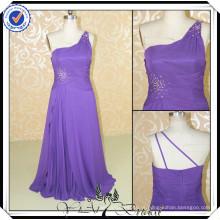 PP0122 Real Sample um ombro purplechiffon feito por encomenda vestidos de dama de honra China