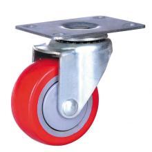 Roulette industrielle de roue de polyuréthane de 3 pouces