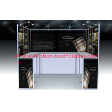 Portable Black Exhibition Booth Displays , Modular Trade Show Display Systems