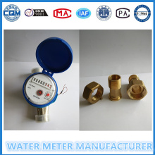 Brass Body Water Flow Meter with Brass Connectors