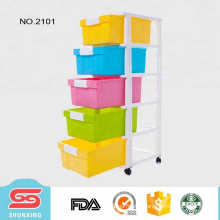Cabinets 5-tier baby plastic drawer from China