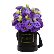 Runder Blumenkasten des Gewohnheitsdesigns mit Soem-Logo