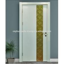 Conception spéciale Porte classique classique laquée avec feuille d'or moulée