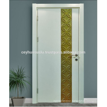 Special Design White Classic Lacquered Interior Door with Molded Gold Leaf