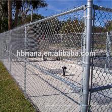 Cerca de elo da cadeia de galvanizado usado / painéis de vedação de elo da cadeia