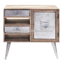 Industrial Mango wood with metal legs Nightstand