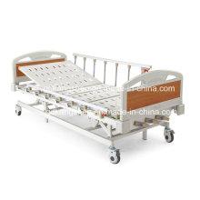 Three-Cranks Manual High-Low Adjustable Hospital Bed