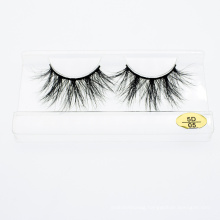 The Private Label High Quality 3D 5D 25mm Real Mink Eyelashes with Customzied Package Boxes