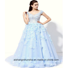 New Luxury High-Grade Colorful Lace Flower Wedding Dress
