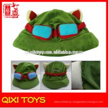 Liga de lendas cosplay cap lol teemo chapéu de brinquedo de pelúcia