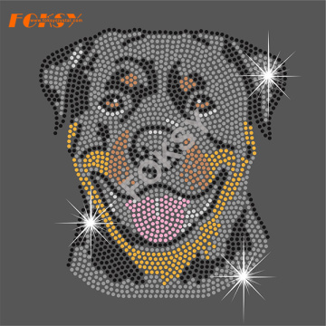 Rottweiler Dog Transfert Hot Fix pour le sac