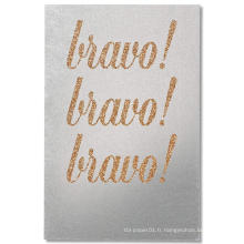 Brown Salutations Félicitations Glitter Card Glitter