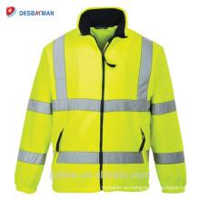 Chaleco reflectante de la seguridad de la seguridad de la chaqueta de seguridad del color amarillo del tráfico por carretera de la alta calidad