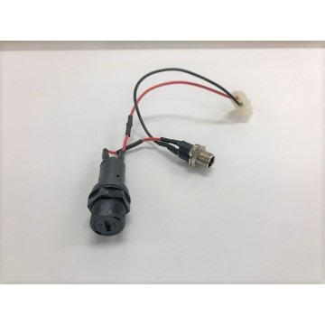 Switch wire harness with DC socket