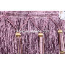 Franja cepillo de color púrpura moda para cortina fabricante
