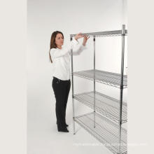 Double Side Adjustable Grocery Store Display Rack Shelf