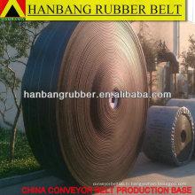 PVC solide tissé bande transporteuse des années 1800