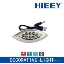 Lampadaire côté LED lampe de lampe lampe de plaque d'immatriculation avec lumière LED bleue décorative