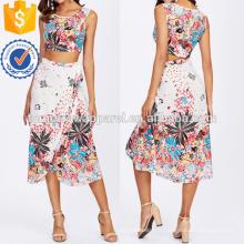 Crop Tank Top & Overlap jupe Set Fabrication de mode en gros femmes vêtements (TA4082SS)