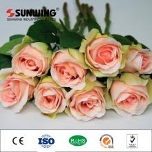 Großhandel billig Hochzeit Dekoration künstliche Hortensie Roes Blume
