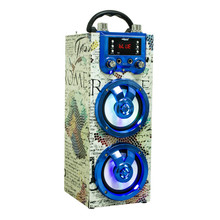 Wooden Portable Speaker with Karaoke and FM Radio