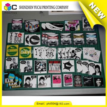 China supplier logo sticker printing and plastic sticker printing