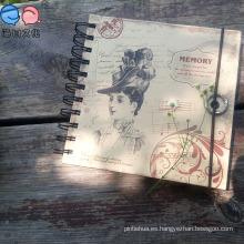 Moda baratos 48k papel Kraft personalizado impreso espiral Notebook