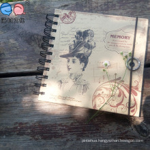 Fashion Cheap 48k Kraft Paper Custom Printed Spiral Notebook