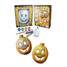 enfants, peinture, bricolage, dessin, Halloween, citrouille, masques