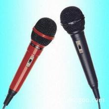 600Ω Wired Handheld Microphone with Plastic Housing and Metal Mesh Ball Grille