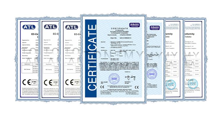 Tonemy Diffuser Certificate