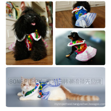 BONEPUPPY Chinese Design Festival Pet Dog Wedding Dress