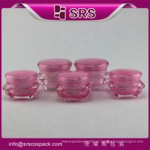Unique forma bela Jars contêineres plástico cosméticos embalagem