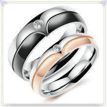 Cristal jóias acessórios de moda anel de aço inoxidável (SR804)