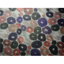 Neue Baumwolle Material gedruckt Beflockung Stoff (DSC-4158)