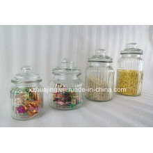Big Size Clear Food Safe Storage Glass Jar with Glass Lid