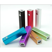 Lipstick Design 2600mAh Power Bank with Capacity Display Screen