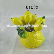 Atacado melancia fruta cerâmica garfo conjunto