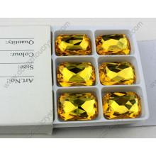 Gotas cristalinas del octágono sin plomo del precio de fábrica para la decoración de la joyería