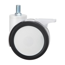 Plastic PU Twin Wheels Medical Caster Wheel