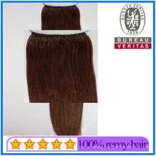 Premium Quality Brown Color 8-30inch Virgin Hair Remy Hair Human Hair Wholesale Knot Thread Hair Extensions