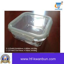 Ясный стеклянный ящик с пластиковой крышкой Посуда для кухни Kb-Jh06092