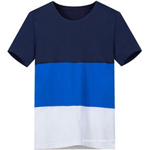 Men′s Casual Customized Three Color Contrast T Shirt