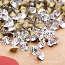 Confeti de acrílico facetado del diamante de 8m m
