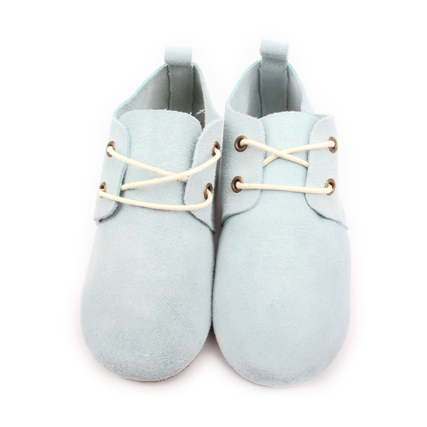 Cyan New Styles Fashion Leather Kids Rubber Oxford Shoes
