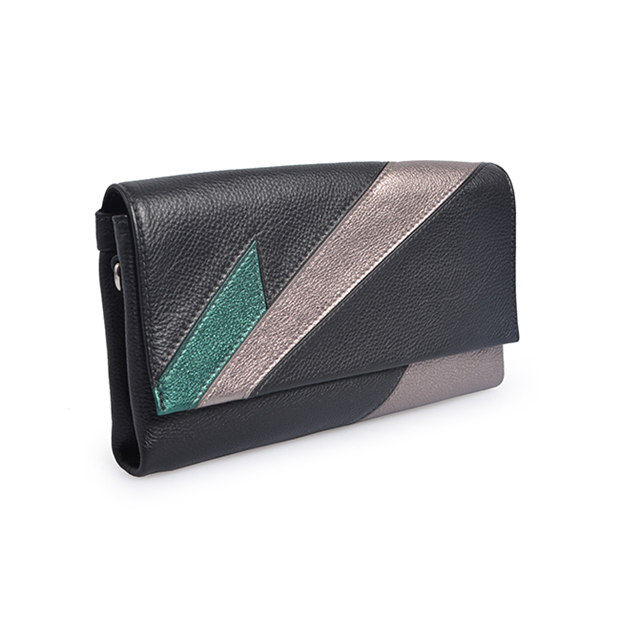 Summer Style Candy Color Patchwork Women wrist Bag Clutches bag for lady