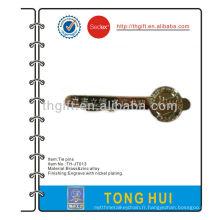 La broche / clip / barrette métallique nickelage sans couleur émail