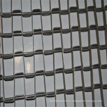 Bande transporteuse de feuille de maille d'acier inoxydable