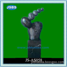 Man Made Small Black Abstract Stone Sculpture Design